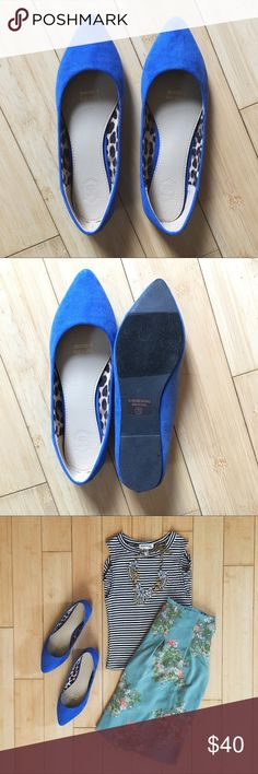 Reign Down Mock Suede | Soft | BNIB | Cobalt | Ladylike Modcloth Shoes Flats & Loafers