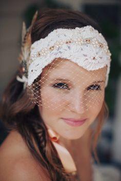 Boho Bride.. Love the Veil!| Photo: www.maxwellmonty.com