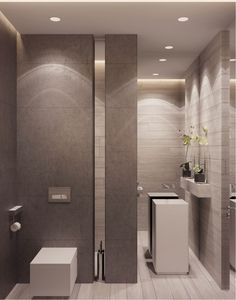For more black and white bathroom Decorating Designing Ideas bathroom design ideas, luxury bathrooms, luxury bath tubs Bad Inspiration, Bathroom Inspiration, White Bathroom, Modern Bathroom, Minimalist Bathroom, Design Rustique, Bathroom Toilets, Bathroom Vanities, Washroom