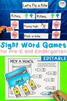 Teaching sight words to Kindergarten or Pre-k early learners has never been easier with these eidtble sight word games! So, if you've been wondering how to teach sight words to Kindergarten students, these are your answer. Check out these sight words kindergarten printables! #kindergarten #prek #sightwords