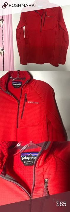 Patagonia Women's Polartec Red Quarter Zip This is a Patagonia women's small red polartec Quarterzip in excellent condition. Very pretty red color. Bundle up! Patagonia Jackets & Coats