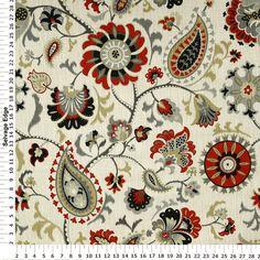 Graphite Siren Song Home Decor Fabric