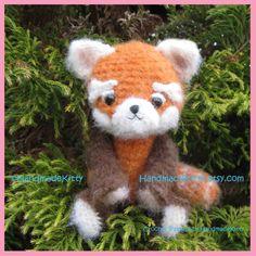 Red Panda Amigurumi PDF Crochet Pattern by HandmadeKitty