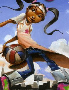 "Frank Morrison Artwork for ""QUEEN OF THE SCENE"" Children's Book by Queen Latifah"