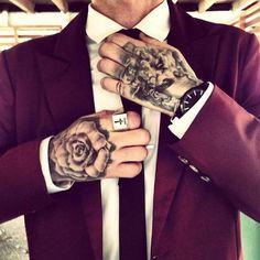 Tattooed guy getting stilish. #tattoo #tattoos #ink