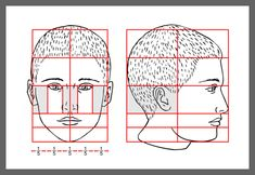 Proportions for drawing portraits. So very helpful!  artfactory.com