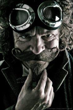 Steampunk moustache and chin puff Steampunk Kunst, Design Steampunk, Mode Steampunk, Style Steampunk, Victorian Steampunk, Steampunk Clothing, Steampunk Fashion, Gothic Fashion, Steampunk Cosplay