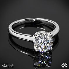 Vatche Sisley Solitaire Engagement Ring with a 1.52ct Round