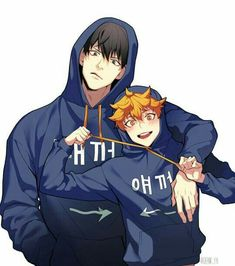 Kageyama Tobio x Hinata Shouyou (KageHina) Haikyuu Kageyama, Manga Haikyuu, Haikyuu Fanart, Haikyuu Ships, Hinata Shouyou, Comic Anime, Manga Anime, Kagehina Cute, Haikyuu Wallpaper