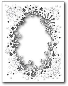 Memory Box Flurry Snowflake Frame Die