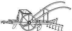 Corn Planter Machine is a plow that was invented by Henry Blair in October 14, 1834. It's powered by a horse pulling it, it opens the furrow, drops the corn, and than covers it back up. Henry thought it would save 8 people from working.