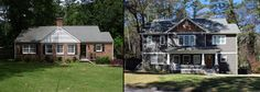 Is this the same house? Yes; the theme was carried through to the second floor and a welcoming new porch was added.