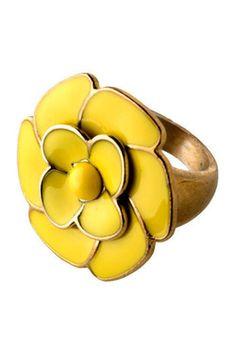 Vintage Dahlberg Daisy Ring, #ModCloth