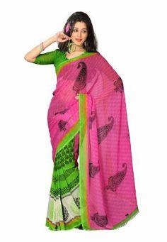 Fabdeal Indian Designer Georgette Pink Printed Saree Fabdeal, http://www.amazon.de/dp/B00INWJQWK/ref=cm_sw_r_pi_dp_3y7otb00AAY9K