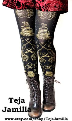 Pirate Tights Narwhal Print $25.65