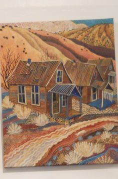 Art in Madrid, New Mexico. By Sally Bartos. Love her work.
