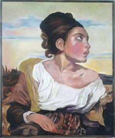 Copy Delacroix - oil on canvas