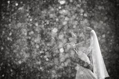 Beautiful shot through water fountain droplets that really capture the essence of love