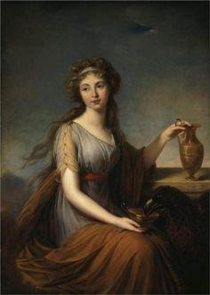 Portrait of Anna Pitt as Hebe, 1792  -  Louise Elisabeth Vigee Le Brun