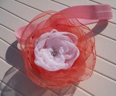 Retro hair band for  CHILDREN and BABIES with the tulle flower not by CuteHairBand, zł16.00