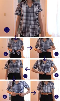 Style for over 35 ~ How to tuck your shirt into a belt/wear a dress as a skirt via Fast Food & Fast Fashion