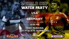 Catch all the action of the 2014 World Cup live on our 32-foot HD LED big screen, plus food  drink specials during the game!