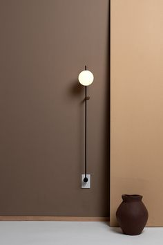 32 Inspirations of Decorative Wall Lamps - There are many types of lamp for a home. The lamp function is not only for the lighting but also for the decoration. The lamp as the decoration is usually located in certain… Continue Reading → Brown Interior, Glass Diffuser, Off The Wall, Colorful Interiors, Design Projects, Wall Lights, Wall Lamps, Hanging Lamps, Bedroom Decor