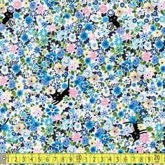 Cocoland+Coco+Cat+Floral+Blue+$0.00