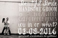Beautiful Bride Handsome Groom Save the Date by ChevronDreams, $9.00