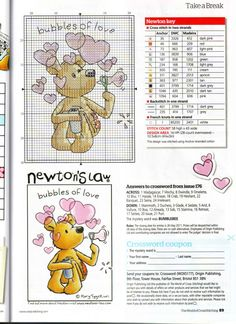 Newton Bubbles Of Love by Rory Tyger The World Cross Stitching Issue 177