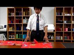 和裁、着物、縫い方、前袖付け巾の印と縫込みの始末 - YouTube