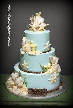 Ocean themed wedding cake | Flickr