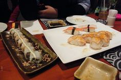 """Crab and Salmon rolls"" - IKUZE Restaurant, Sushi All You Can Eat Menu (9.5.13)"