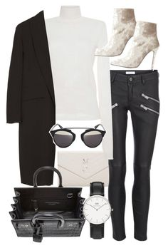 """Untitled #20633"" by florencia95 ❤ liked on Polyvore featuring Yves Saint Laurent, Anine Bing, MSGM, Alexander Wang, Christian Dior and Daniel Wellington"