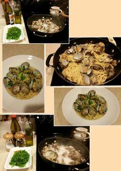 Spaghetti with clams & garlic