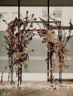 Japanese inspired geometric, pink floral wedding arch by Pia and Jade. Japanese inspired geometric, pink floral wedding arch by Pia and Jade. Photography by Silque Photography Wedding Ceremony Ideas, Ceremony Backdrop, Ceremony Decorations, Wedding Trends, Wedding Styles, Arch Wedding, Wedding Centerpieces, Winter Wedding Arch, Wedding Games