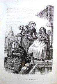 """""""Vid Roddartrappan"""", av Carl Andreas Dahlström, Stockholm, 1855."""