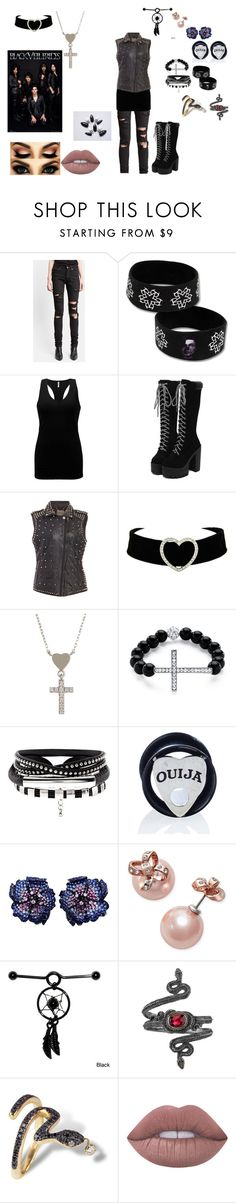 """""""Gothic outfit #36"""" by in-seva on Polyvore featuring Yves Saint Laurent, BKE, MuuBaa, Gucci, Palm Beach Jewelry, Mysticum Luna, Kate Spade, Michael Barin, Nayla Arida and Lime Crime"""