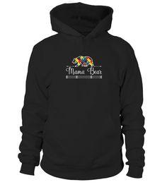 T shirt   Autism Mom Mama Bear Autistic Child Son Daughter T shirt  fashion trend 2018 #tshirt, #tshirtfashion, #fashion