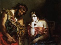 Cleopatra and the Peasant, 1838 Eugene Delacroix