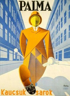 Hungarian Art Deco advertising poster for Palma shoe heels Retro Ads, Vintage Advertisements, Vintage Ads, Vintage Posters, Retro Posters, Vintage Travel, Vintage Prints, Diesel Punk, Art Deco Design