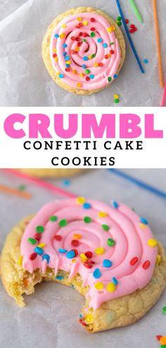 Confetti Cake Cookies, Cake Batter Cookies, Funfetti Cookies, Birthday Cake Cookies, Sugar Cookies, Cupcakes, Baking Recipes, Cookie Recipes, Dessert Recipes