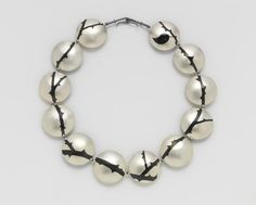 Love it! Suzan Rezac jewelry a dozen roses necklace inlay of gold, shakudo, shibuichi, brass, silver