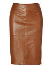 Leather skirt lamb nappa