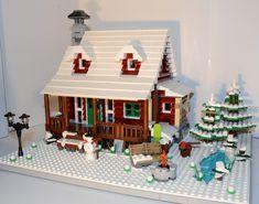 LEGO Ideas - Family Winter Cabin Lego Christmas Train, Lego Christmas Village, Lego Winter Village, Winter Cabin, Winter House, Lego Gingerbread House, Miniture Dollhouse, Lego Club, Lego Pictures