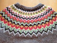 free Ravelry: Islandic spring pattern by Stickolina Knitting Charts, Knitting Patterns Free, Knit Patterns, Free Knitting, Baby Knitting, Fair Isle Chart, Fair Isle Pattern, Icelandic Sweaters, Fair Isle Knitting