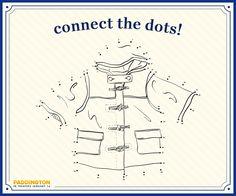 Paddington Bear Connect the Dots Free Printable
