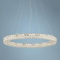 "Possini Euro Perriello 27 1/2"" Wide LED Crystal Ring Pendant"