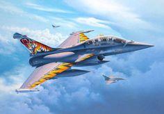 Dassault Rafale B 'Tiger Meet' (Egbert Friedl) Fighter Aircraft, Fighter Jets, Air Force Wallpaper, Indian Air Force, Aircraft Painting, Military Jets, Aviation Art, Box Art, Unique Art
