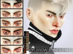 The Sims Resource: Eyebrow Bundle N10 by Pralinesims • Sims 4 Downloads